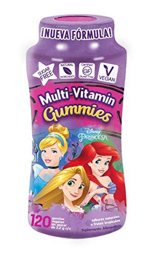 Princesas Multi-Vitaminas y Minerales Gummies | Sin Azúcar | Veganas | Ingredientes 100% Naturales | Gluten Free | 120 Gomitas