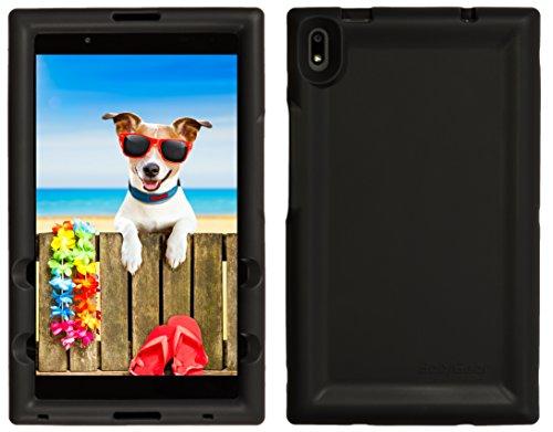 BobjGear Bobj Rugged Tablet Case for Lenovo Tab 4 8 Plus (TB-8704V, TB-8704F, TB-8704X, TB-8704A) - BobjBounces Kid Friendly (Bold Black)