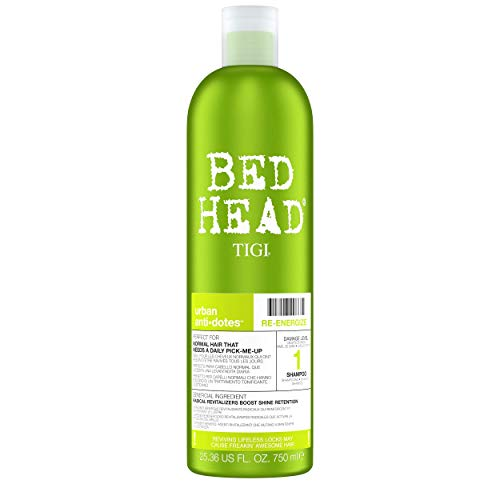 Bed Head by Tigi Urban Antidotes Re-Energize Shampoo für normales Haar, 750 ml