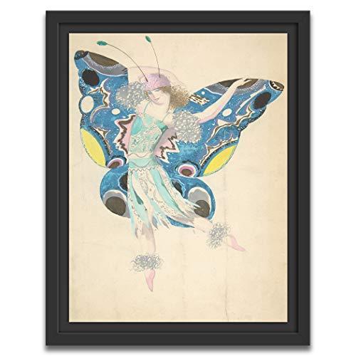 Printed Paintings Marco Americano (70x100cm): Sergey Chekhonin - Diseño para un Disfraz de Mariposa