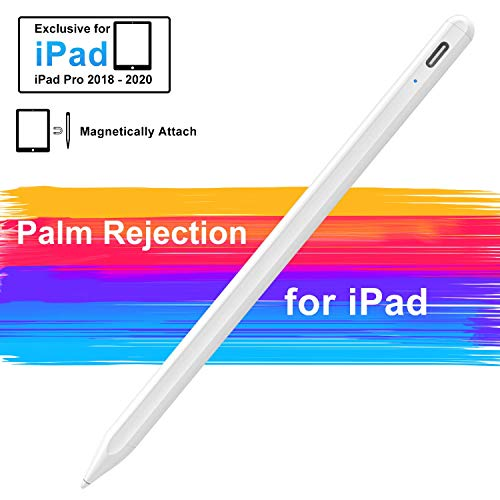 Stylus Pen for iPad with Palm Rejection, Active iPad Pencil with Magnetic Design, Compatible with (2018-2020) Apple iPad Pro (11/12.9 Inch), iPad 7th/6th Gen, iPad Mini 5th Gen, iPad Air 3rd Gen