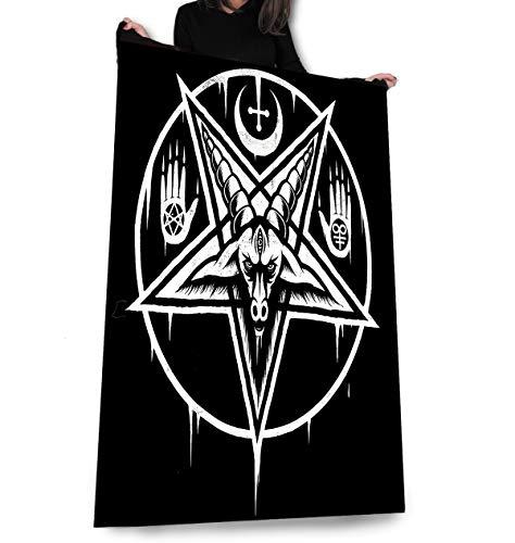 Wild Star Hearts Pentagram Baphomet - Fleece Blanket