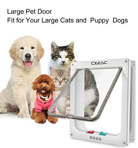 CEESC Extra Large Cat Door (Outer Size 11