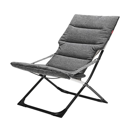 Chaise Pliante Chaise de Bureau de Loisirs Chaise de Pause pour déjeuner Chaise de Balcon pour extérieur Chaise Pliante Amovible (Couleur : Gray)