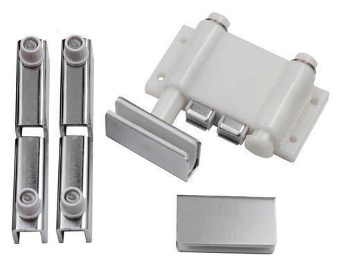 Druckmagnetschnäpper Set 8mm Glastüre Scharniere Möbel Schrank Magnetschnäpper