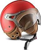 "Soxon SP-325 Mono ""Red"" · Jet-Helm · Motorrad-Helm Roller-Helm Scooter-Helm Bobber Mofa-Helm..."