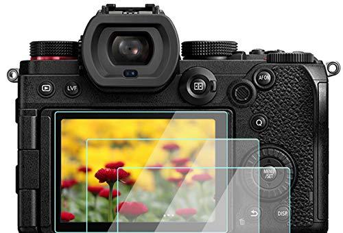 Protector de pantalla S5 compatible con cámara Panasonic LUMIX S5 de marco completo sin espejo (3 unidades), KOMET 9H Dureza Protector de pantalla de vidrio templado