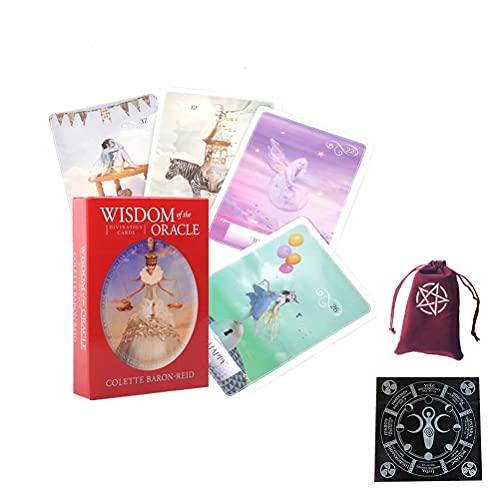 Sabiduría Oracle Tarjetas Tarot Tarjeta Divinación Divinación Entretenimiento Tabla de Mesa Tablero Deck Games Family Tarjetas de Juego,Type 4,Tarot Card