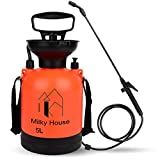 0.8 Gallon Lawn and Garden Pump Pressure Sprayer with Pressure Relief Valve, Adjustable Shoulder Strap Nozzles, Multi-Purpose Compression Sprayers for Pros Weed Killers Insecticides, Wate