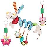 Lictin Bambino Passeggino Giocattoli - Giocattolo a Spirale Passeggino Culla Giocattoli - Giocattolo Morbido al Tatto Adatto per Regalo Giocattolo sensoriale per Bambini di 3-12 Mesi