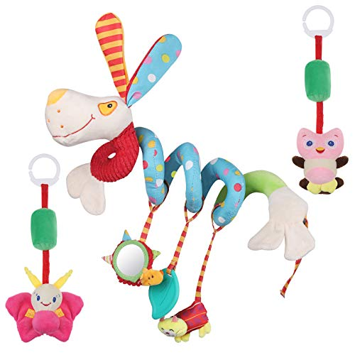 Lictin Cochecito de bebé Juguetes – Juguete en espiral para cochecito de bebé – Juguete suave al tacto apto para regalo – Juguete sensorial para niños de 3 – 12 meses