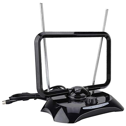 TV antenne, 38DBI High Gain Indoor HDTV antenne met versterker draagbare digitale TV antenne voor TV DVB-T, DAB radio, etc.