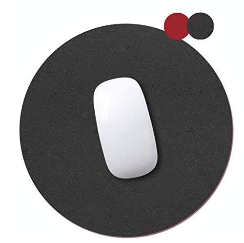 AndThere Tondo Tappetino per Il Mouse pu in Pelle Impermeabile Tappetino per Mouse Pad Antiscivolo Gaming tappetini Mousepad Liscia Double Sided per Mouse Pad Laptop Gioco pc Ufficio Computer 25X25cm