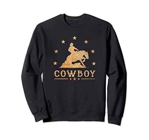 Western Rider Reining Quarter Horse Sliding Stop Cowboy Sweatshirt