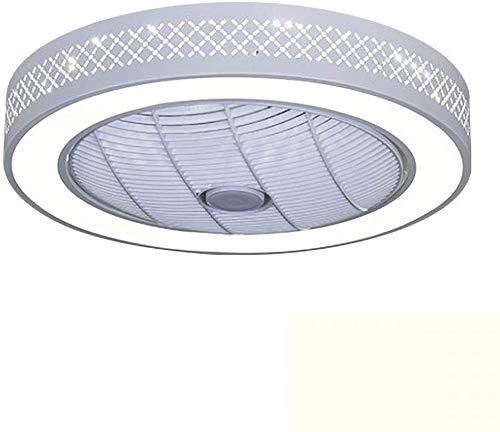 Raelf Ventilador silencioso de la lámpara nórdica con kit de luz LED y control remoto ventilador araña moderna minimalista ventilador de techo lámpara LED invisible luz de techo restaurante