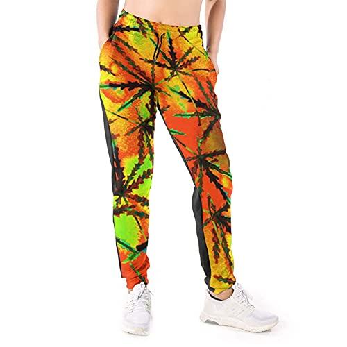 Bettiboy Pantalones deportivos para mujer con bolsillos con cordón y pantalones de yoga, blanco, XXL