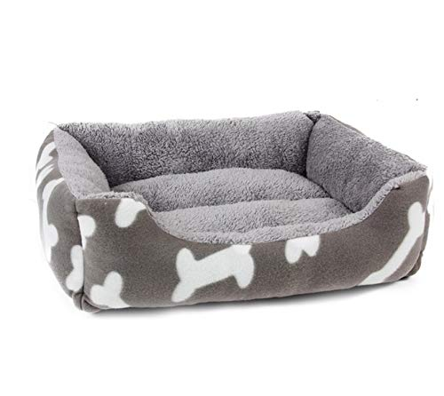 XZHH kat nest hond bed kennel bot patroon huisdier bank hond bed zachte wol winter warm kat bed huis kat nest wit 56 * 45 * 15Cm