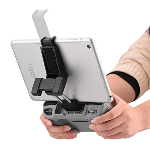 HeiyRC Adjustable Tablet Extended Bracket Holder for DJI Mini 2/Mavic Air 2/Air 2S Drone Remote Controller 7-10.5 Inch Tablet Clip Stand Mount Extender for iPad Mini/Air Accessories