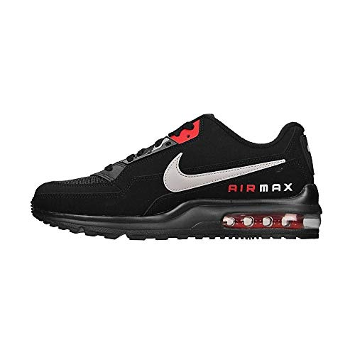 Nike Mens AIR MAX LTD 3 Running Shoe, Black/LT Smoke Grey-University RED,47.5 EU