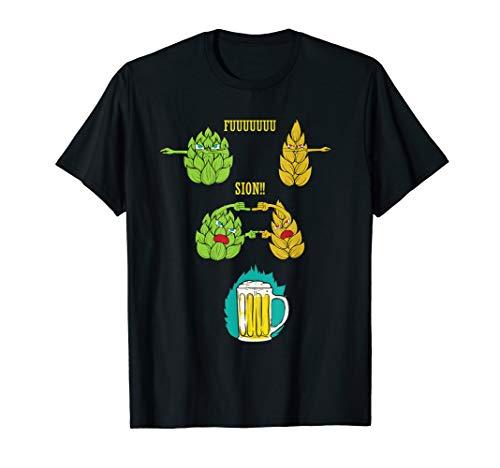 Witzig Geschenk Idee Hopfen Alk Saufen Spaß Fusion Stubbi T-Shirt
