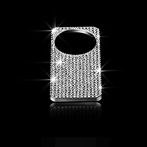 YFBB Diapasón de decoración Interior barrena Diamante/Caja Herramientas Brillante Pegatina de Cubierta de Marco de Borde W205 Cubierta de Lentejuelas, para Mercedes C200L Clase E GLK GLC CLS SL GL