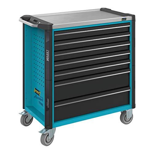 HAZET Werkstattwagen Assistent 179NXL-7 Schubladen flach: 5x 77x696x398 mm Schubladen hoch: 2x 162x696x398 mm