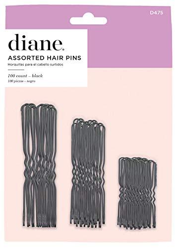 Diane Hair Pins Assorted Size Black 100/card