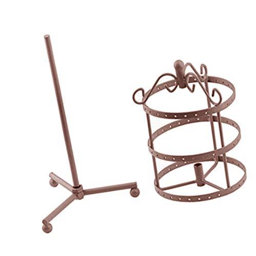 SM SunniMix Metall Ohrringe Schmuckhalter Kettenständer Schmuckständer Schmuckhalter Schmuck Präsentation 3-Tier Design - Bronze