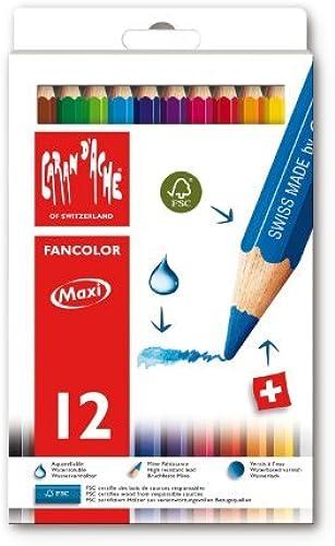cómodamente Caran Caran Caran D'Ache FanColor Water-soluble Pencils - Box of 12 Jumbo Assorted Colours by Caran d'Ache  El nuevo outlet de marcas online.