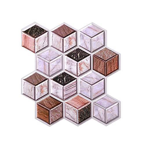 Pegatinas De Pared Tridimensionales 3D Pegatinas De Azulejos Pegatinas Cuadradas Hexagonales Anticolisión Pegatinas Decorativas Pvc 30 Cm (8 Piezas)