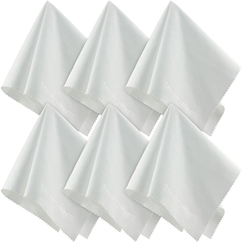 Great Features Of Large Microfiber Cleaning Cloths (12x12 Inch, 6 Pack) for Big TV Screens, Eyeglass...