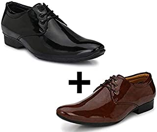 Amico Formal Combo Pack of 2 Shoes