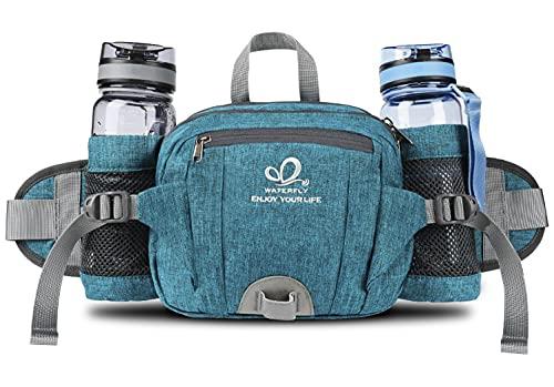 Fanny Pack with Water Bottle Holder Hiking Waist Packs for Walking Running...