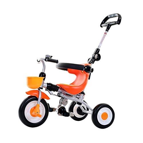 Triciclo triciclo triciclo de 1 año de edad, 2 ruedas Toshizo pedal bicicleta 2 en 1 putter para padres para niños 1 2 3 4 5 6 años niños y niñas es adecuado