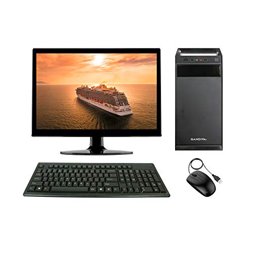 Gandiva® Economical 15.6-inch All in One C2D Desktop Computer(Core2Duo/4GB/160GB HDD/Windows 7(Trial Version)) MS Office(Trial Version) & Antivirus(Free Version).