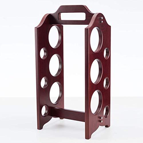 Pyrojewel Encimera Forma estante de madera de bambú - sostenedor impermeable Encimera del gabinete de almacenamiento de cajas de vino Bodega, Botella de vino de mesa de almacenamiento ranuras for 6 Bo