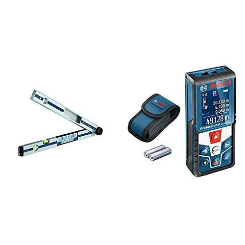 Bosch Professional Digitaler Winkelmesser und Neigungsmesser GAM 270 MFL (Schenkellänge: 0-270º, Länge: 60 cm) & Laser Entfernungsmesser GLM 50 C (max. Messbereich: 50 m, 2x 1,5-V Batterien)