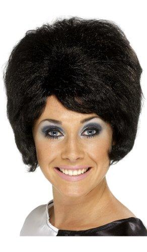 Fancy Dress 60 's Sixties Black Beehive Wig (perruque)