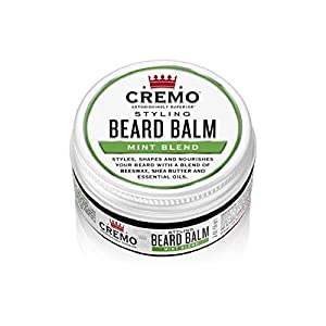 Cremo Mint Blend Styling Beard Balm, Nourishes, Shapes And Styles Longer, Fuller Beards, 2 Oz 2