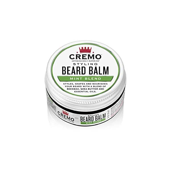 Cremo Mint Blend Styling Beard Balm, Nourishes, Shapes And Styles Longer, Fuller Beards, 2 Oz 1