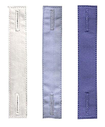 KliSa Krawatten-Halter - The Tie Thing ® - Die unsichtbare & dezente Krawattennadel! - 3er Pack (Weiß/Blau/Dunkelblau)