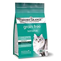 For adult cats with sensitive skin and stomachs Grain free recipe; no added cereals or grain Contains 26 Percent fresh white fish and 24 Percent white fish meal Includes prebiotics, joint supplements and yucca extract Naturally hypoallergenic