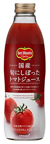 デルモンテ 国産 旬にしぼったトマトジュース 750ml×6本 瓶