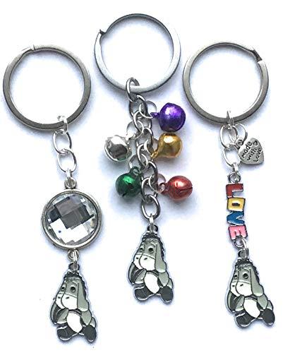 Eeyore keyring - grey - various designs
