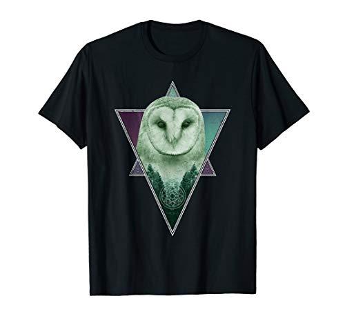 barn owl spirit animal nature and outdoor lover t-shirt T-Shirt