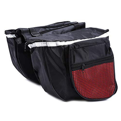 MAGT Bicycle Rear Frame Bag, 25L Large Capacity Bicycle Rear Pannier Bag Waterproof Anti -Scratch Mountain Bike Bag 600D Polyester Bike Pouch Bicycle Rear Saddle Accesories Black