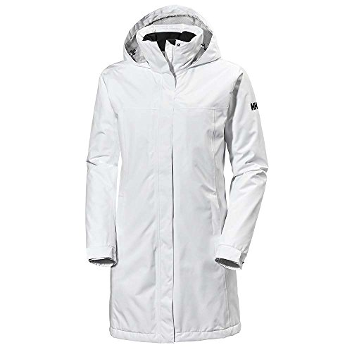 Helly Hansen Damen W Aden Long Insulated Regenjacke, weiß (Weiß), S