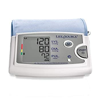 LifeSource Upper Arm Blood Pressure Monitor with Extra Large Cuff  UA-789AC