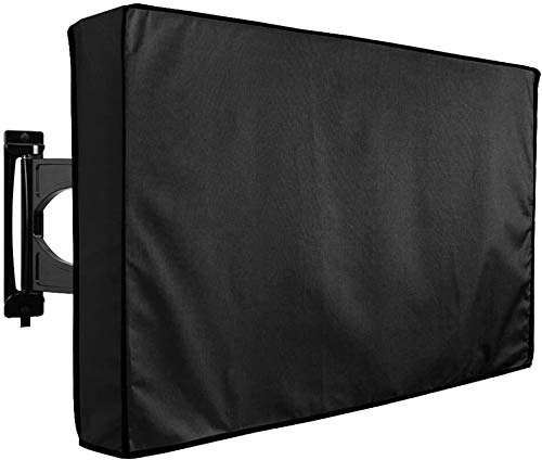 Outdoor TV Cover 20' - 24' - WITH BOTTOM COVER - The Weatherproof Material with Microfiber Cloth. Protect Your TV Now! Four seasons (Size : 46' - 48')