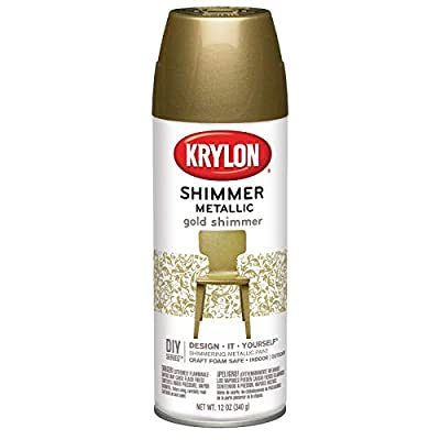 Krylon Shimmer Metallic Spray Paint Gold Shimmer, 11.5-Ounce (Parent)